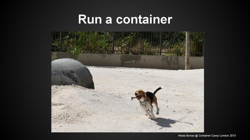 Run a container Alissa Bonas @ Container Camp L...