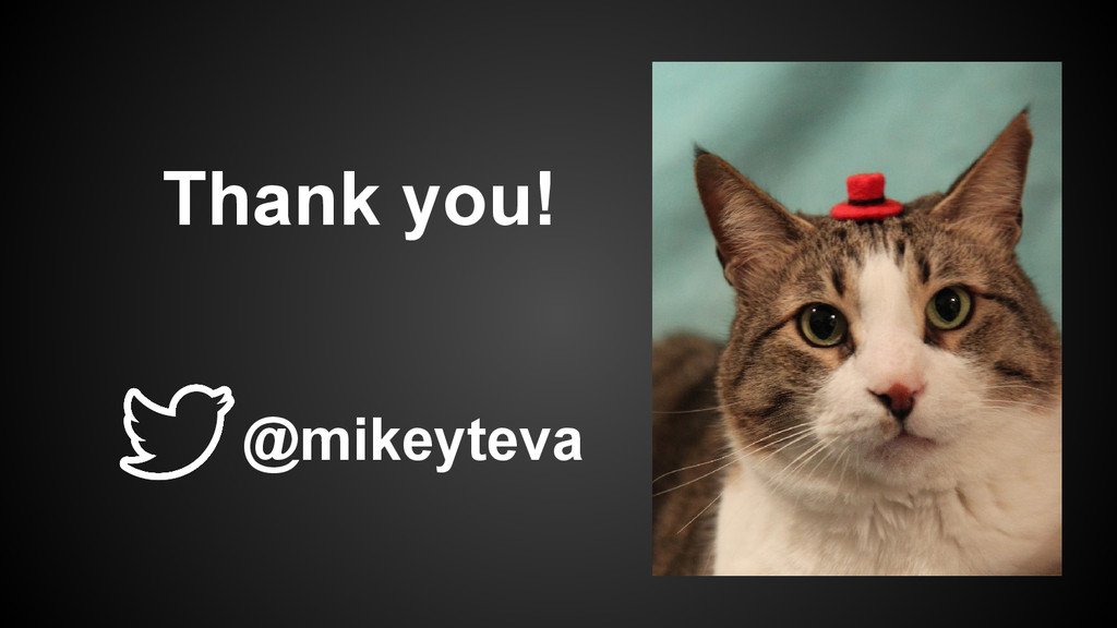Thank you! @mikeyteva