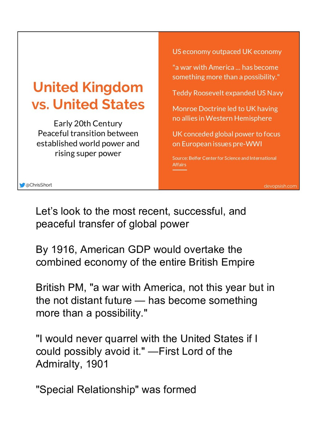 United Kingdom vs. United States Early 20th Cen...