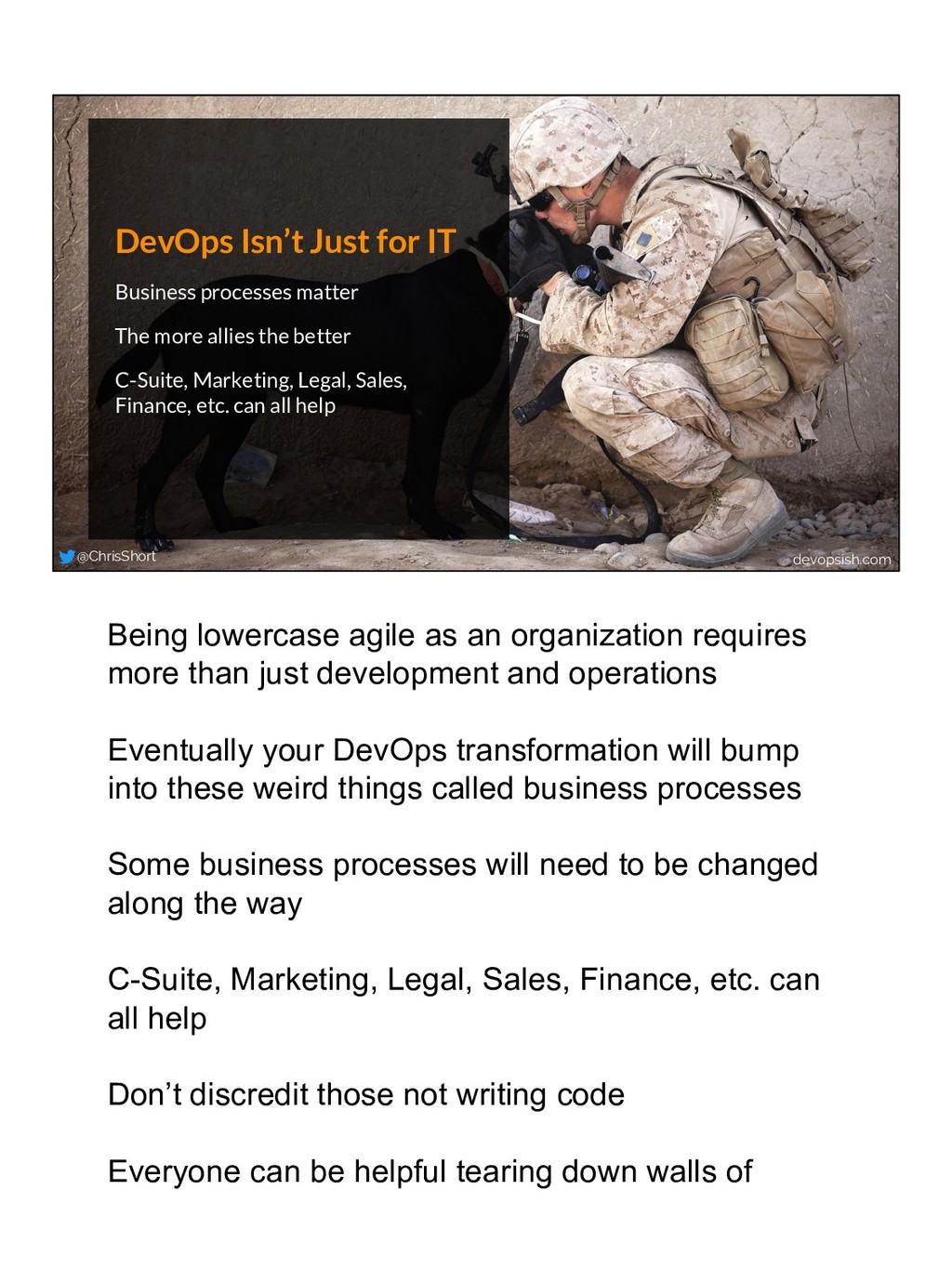 DevOps Isn't Just for IT Business processes mat...