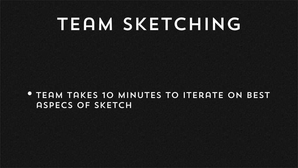 Team Sketching •Team takes 10 minutes to iterat...