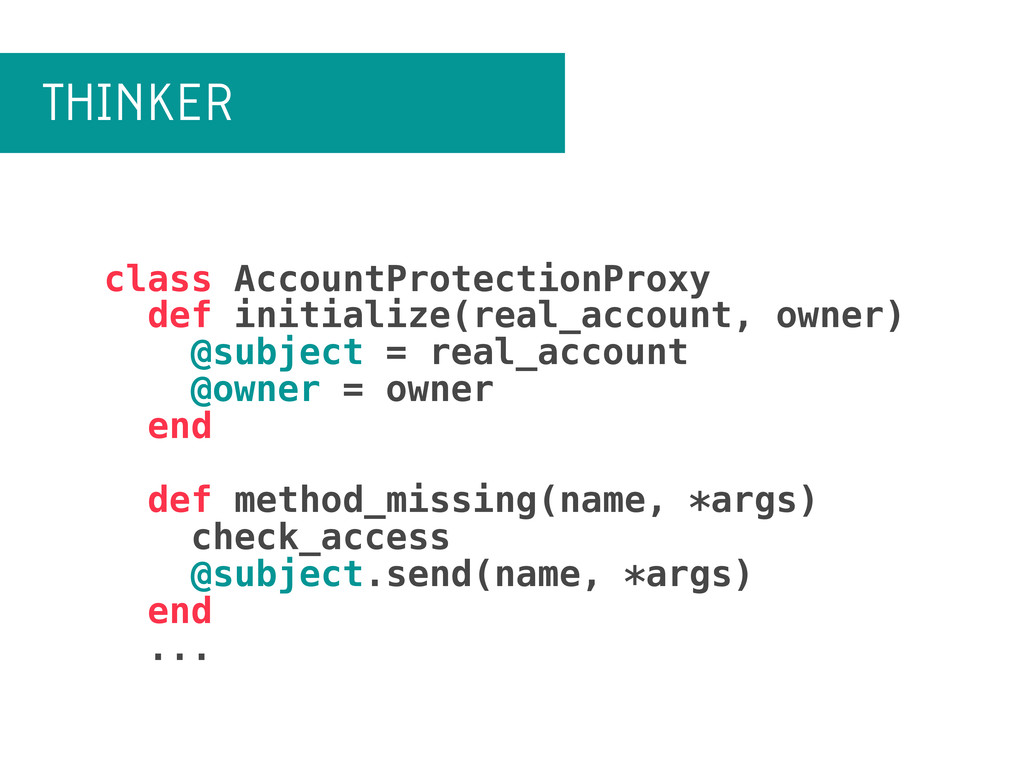 THINKER class AccountProtectionProxy def initia...
