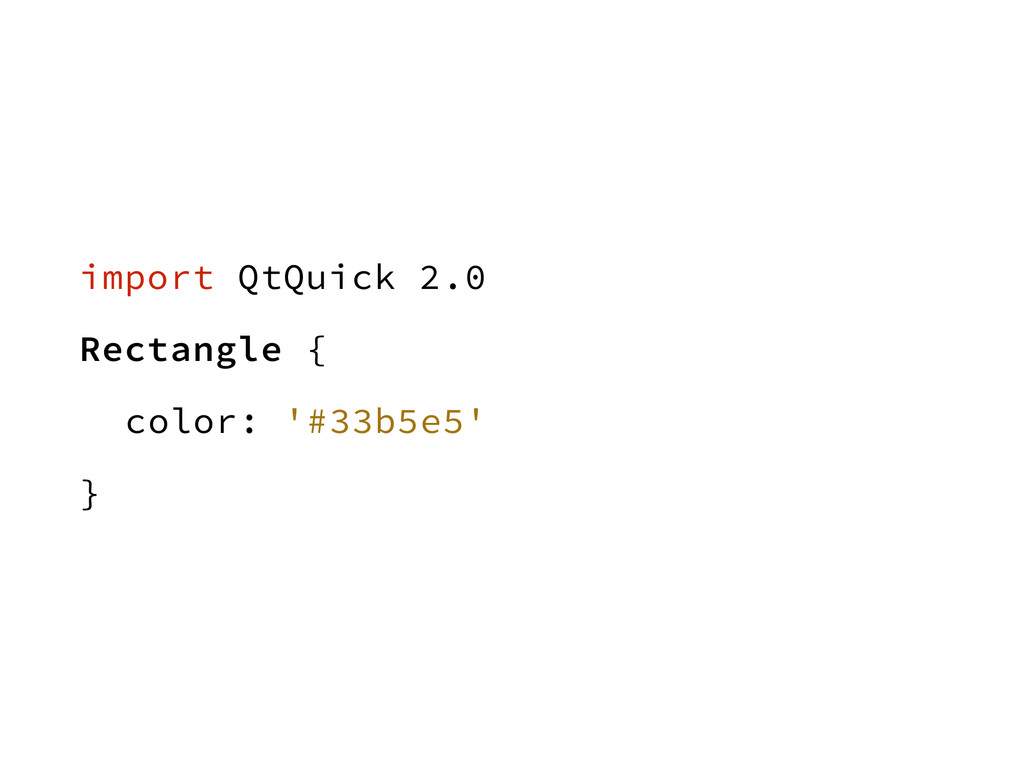 import QtQuick 2.0 Rectangle { color: '#33b5e5'...