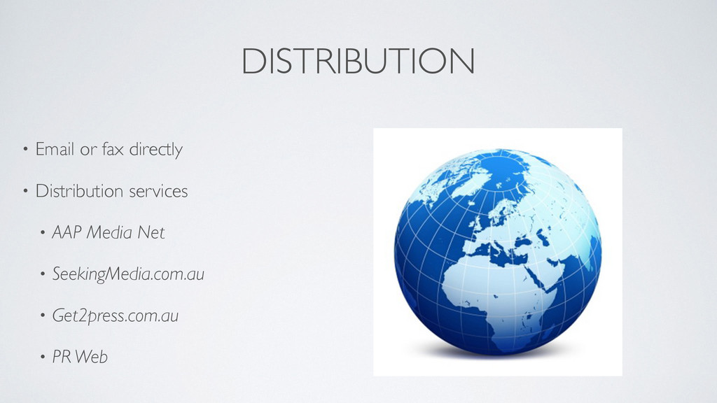 DISTRIBUTION • Email or fax directly  • Distr...
