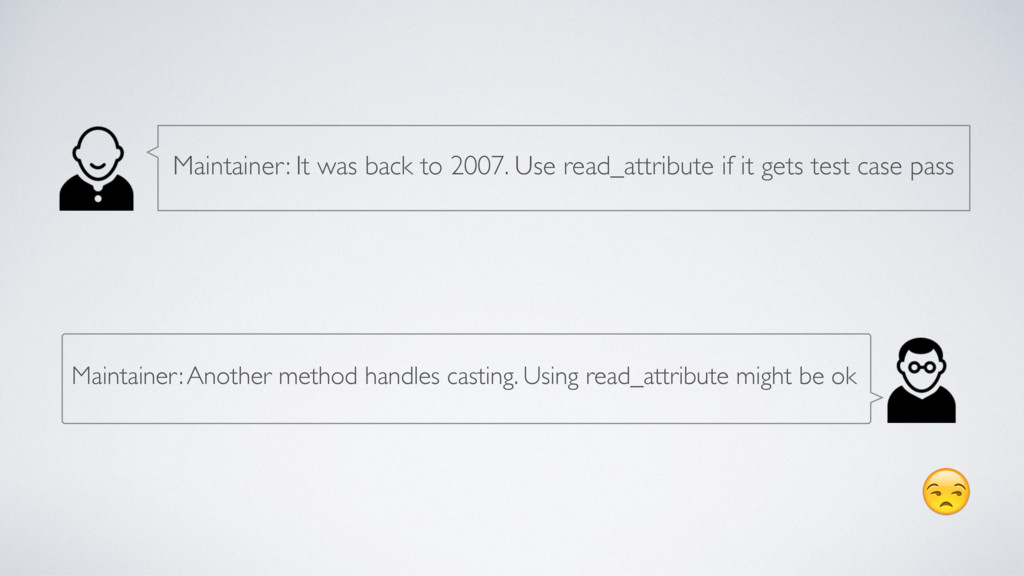 Maintainer: Another method handles casting. Us...