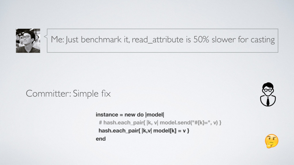Committer: Simple fix instance = new do |model| ...