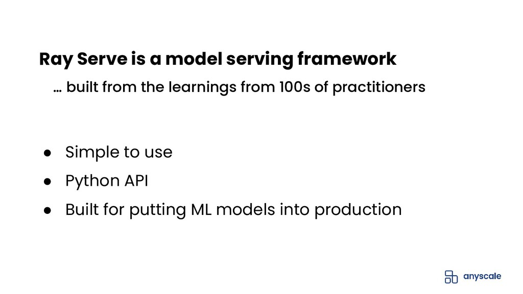 ● Simple to use ● Python API ● Built for puttin...