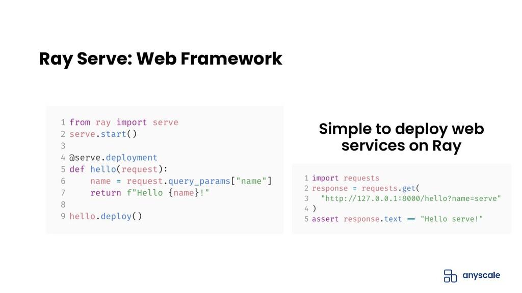 Ray Serve: Web Framework Simple to deploy web s...