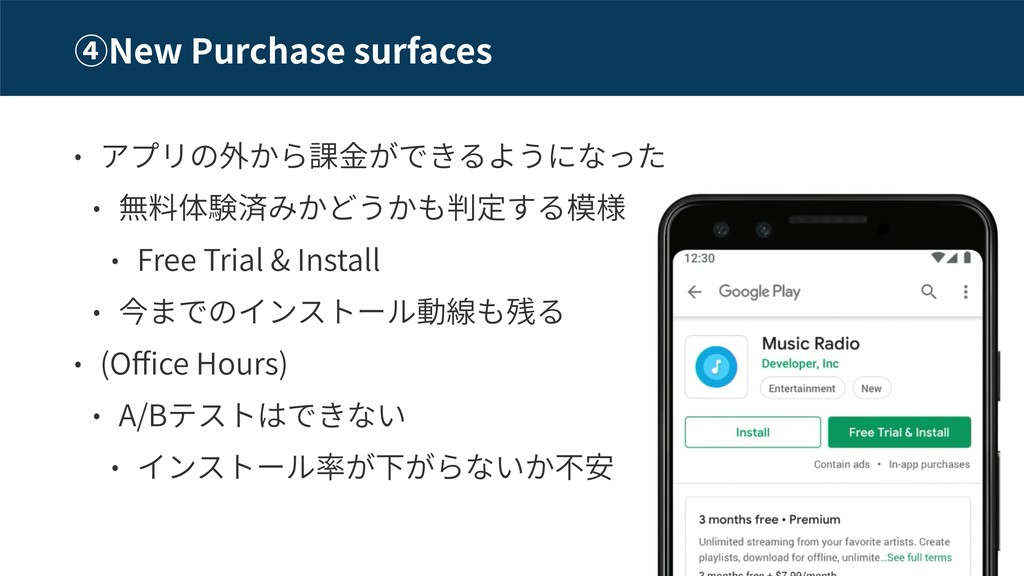New Purchase surfaces Free Trial & Install (O c...