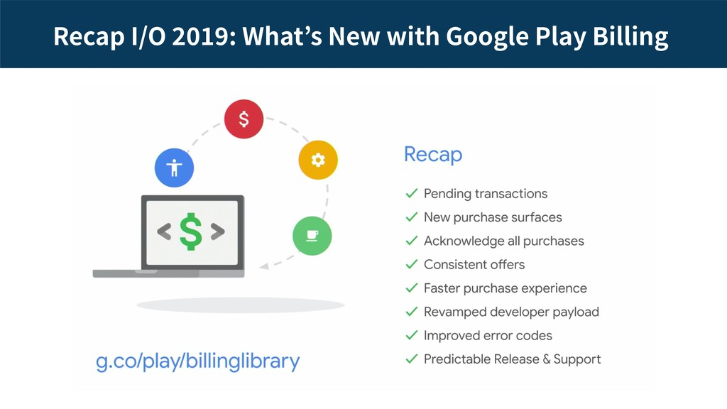Recap I/O : What s New with Google Play Billing