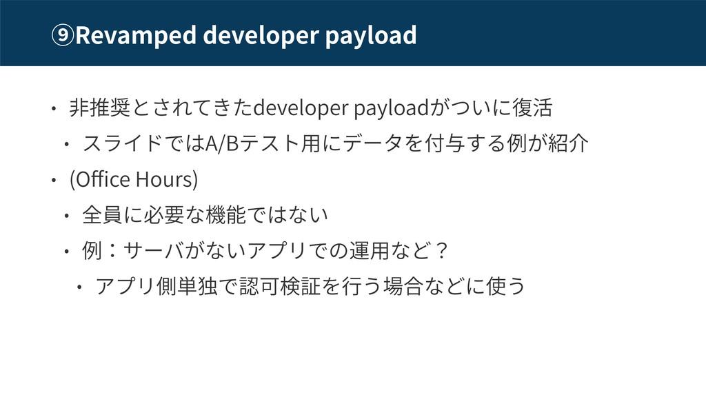 Revamped developer payload developer payload A/...
