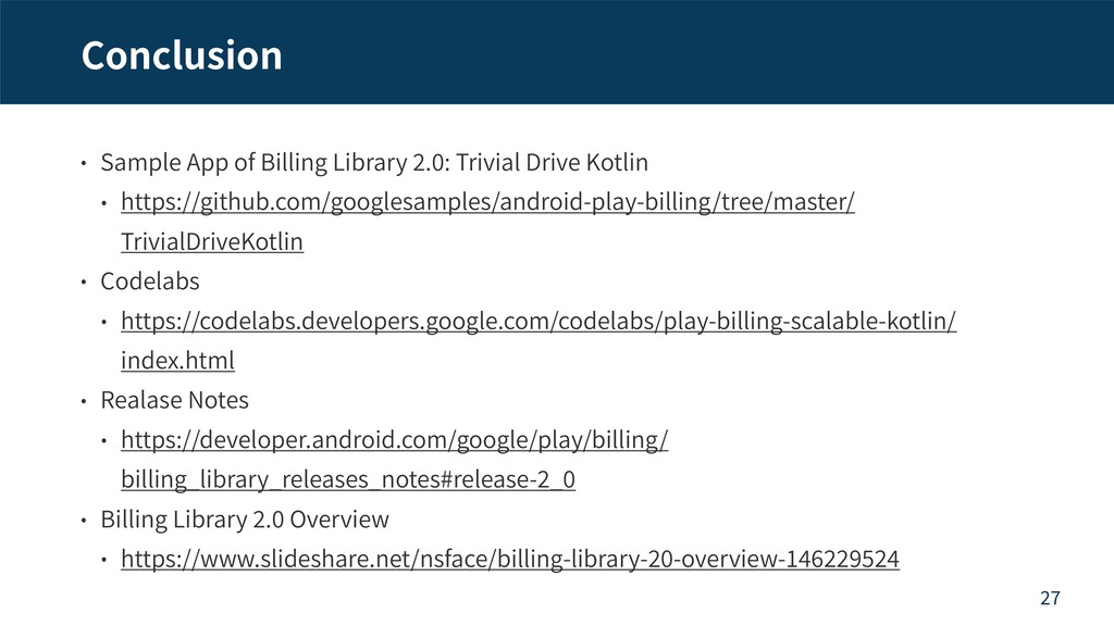 Conclusion Sample App of Billing Library . : Tr...