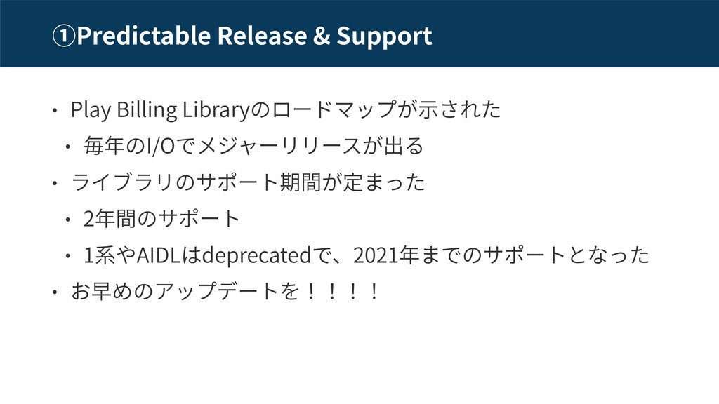 Predictable Release & Support Play Billing Libr...