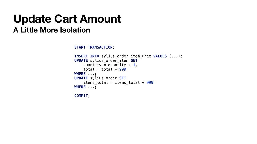 Update Cart Amount A Little More Isolation STAR...
