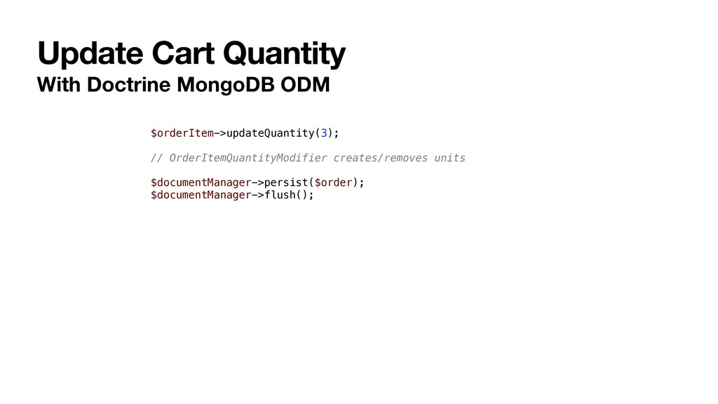 Update Cart Quantity With Doctrine MongoDB ODM ...