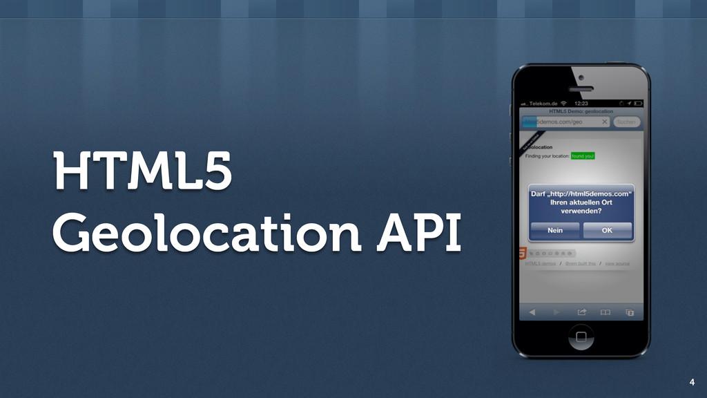 HTML5 Geolocation API 4