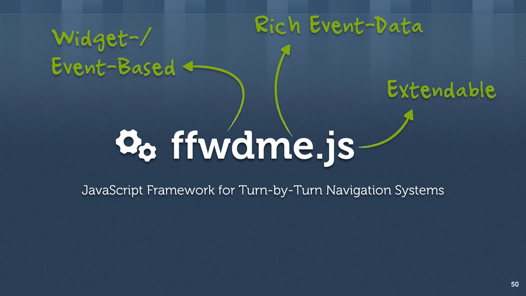 ffwdme.js 50 JavaScript Framework for Turn-by-T...