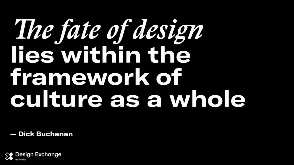 The fate of design lies within the framework of...