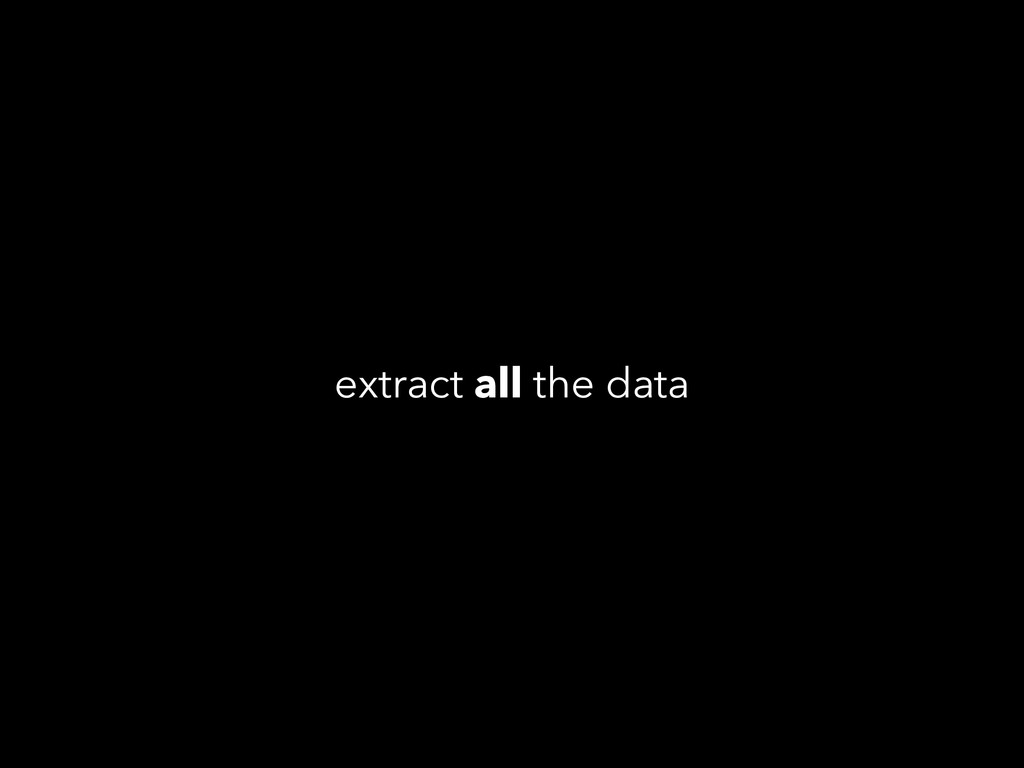 extract all the data