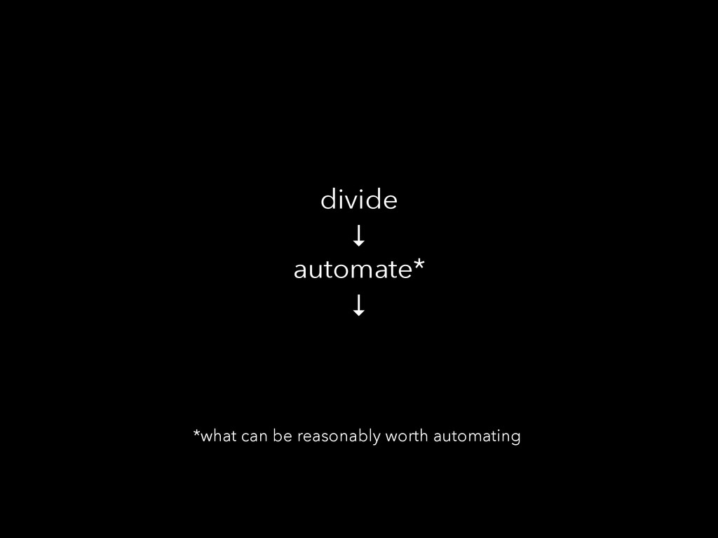divide ↓ automate* ↓ *what can be reasonably wo...