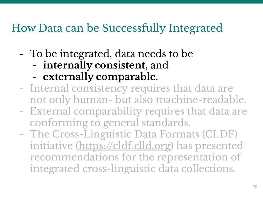 12 How Data can be Successfully Integrated - To...