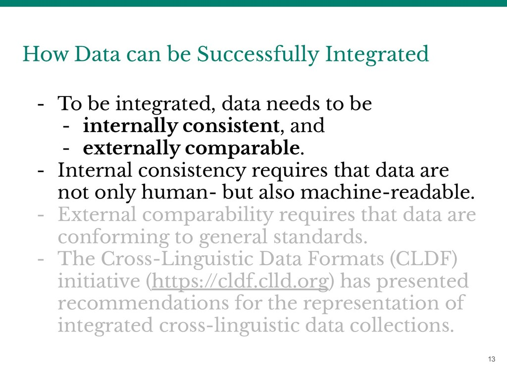 13 How Data can be Successfully Integrated - To...