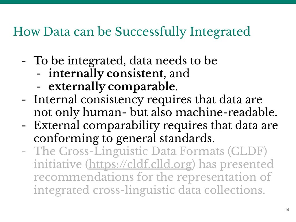14 How Data can be Successfully Integrated - To...