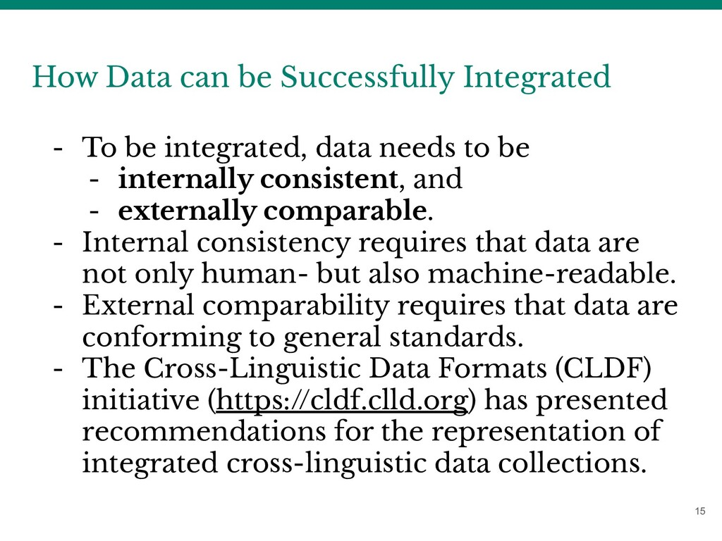 15 How Data can be Successfully Integrated - To...