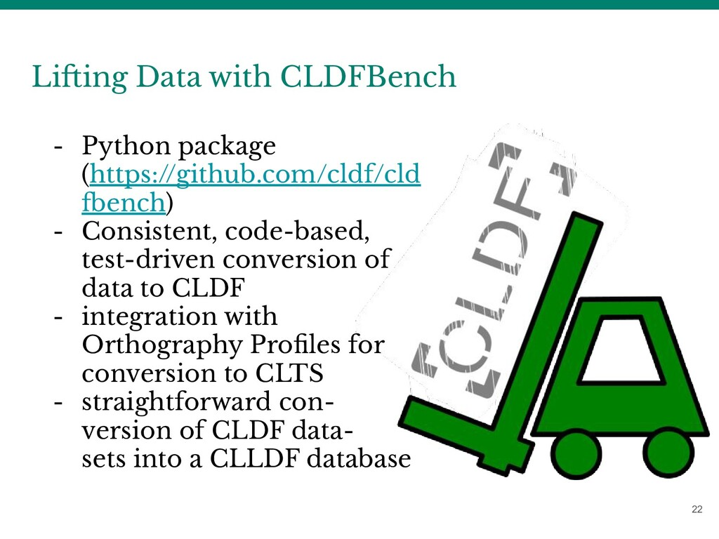 22 Lifting Data with CLDFBench - Python package...