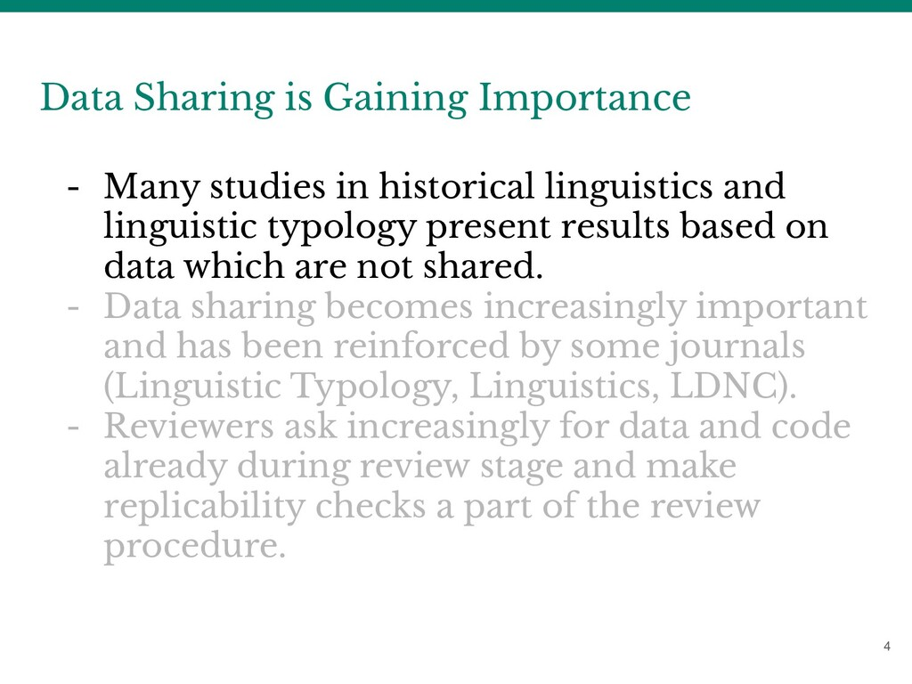 4 Data Sharing is Gaining Importance - Many stu...