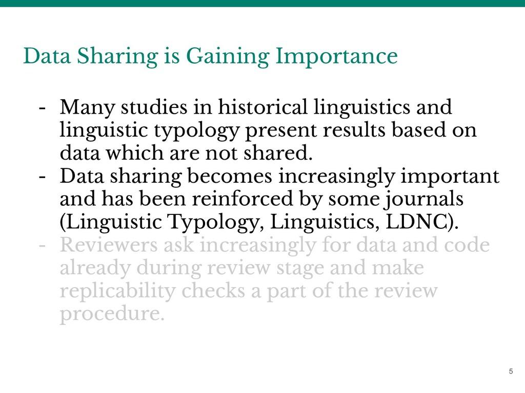 5 Data Sharing is Gaining Importance - Many stu...