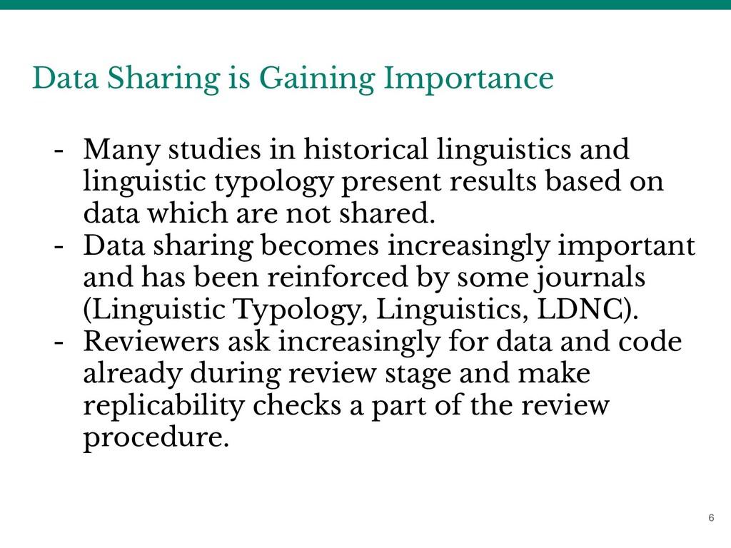 6 Data Sharing is Gaining Importance - Many stu...