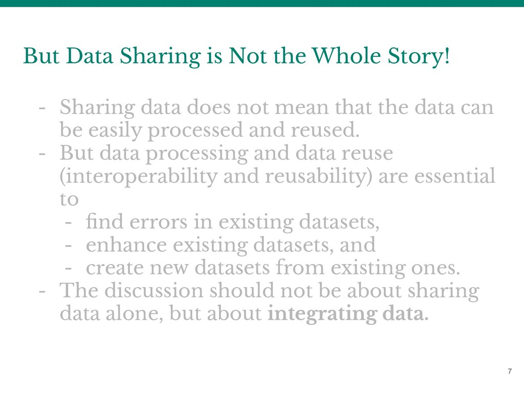 7 But Data Sharing is Not the Whole Story! - Sh...