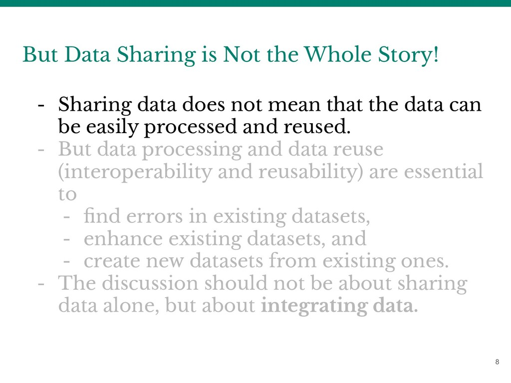 8 But Data Sharing is Not the Whole Story! - Sh...