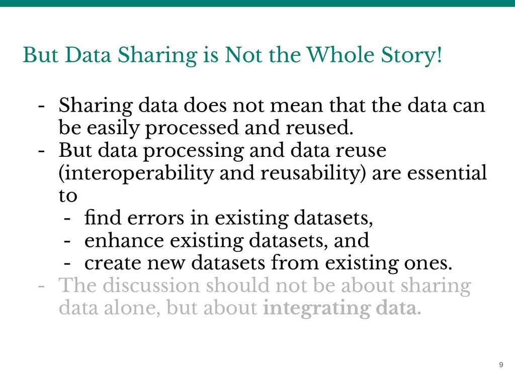 9 But Data Sharing is Not the Whole Story! - Sh...