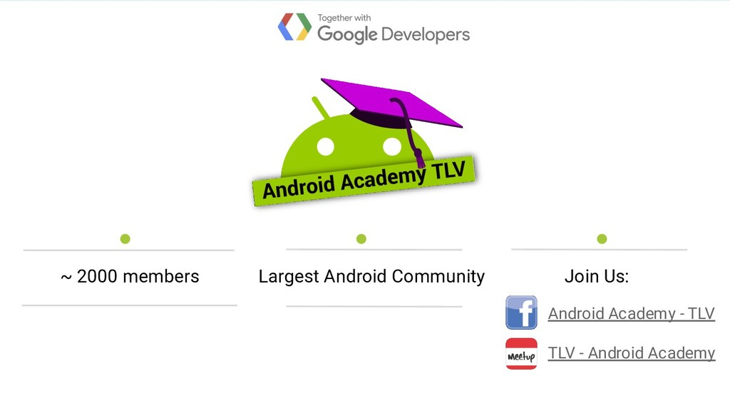 Largest Android Community Android Academy - TLV...