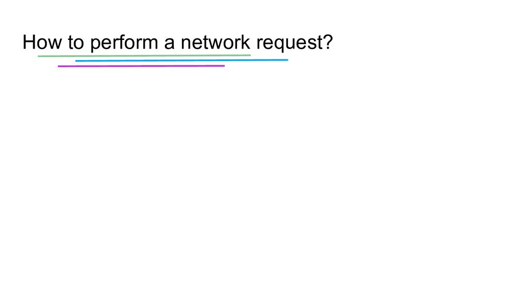 How to perform a network request?