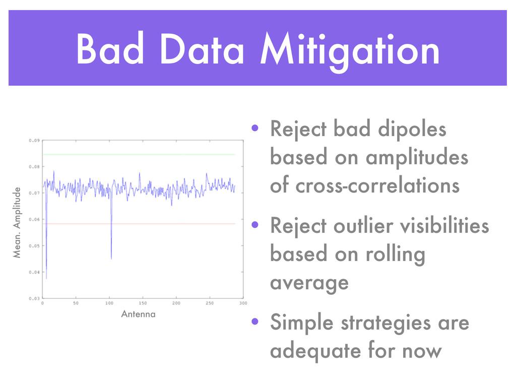 Bad Data Mitigation Antenna Mean. Amplitude • R...