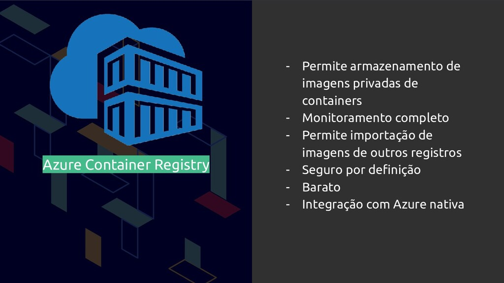 Azure Container Registry - Permite armazenament...