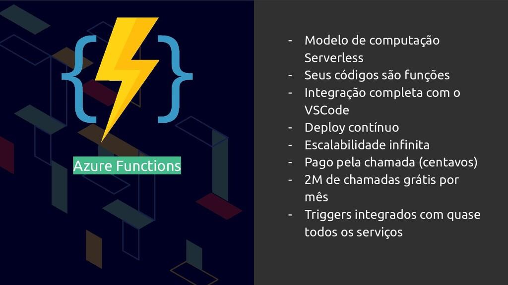 Azure Functions - Modelo de computação Serverle...