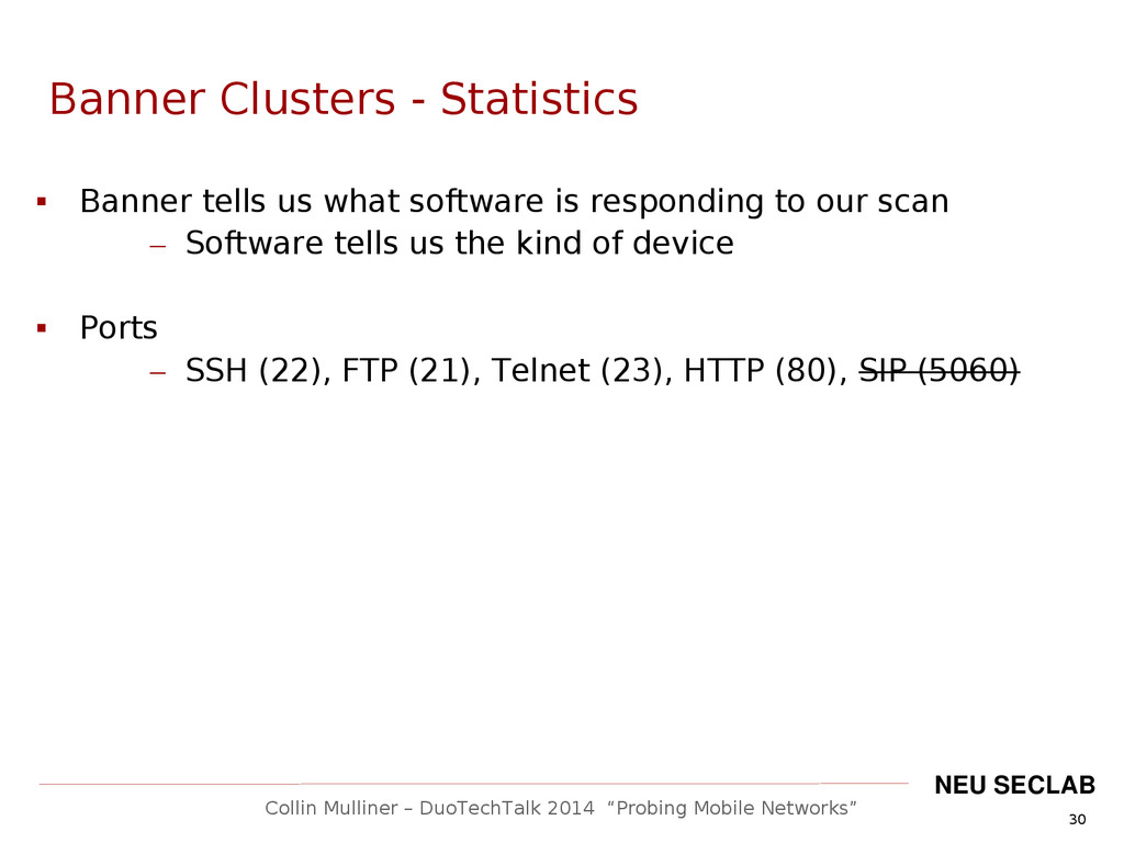 """30 Collin Mulliner – DuoTechTalk 2014 """"Probing ..."""