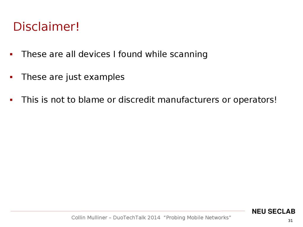 """31 Collin Mulliner – DuoTechTalk 2014 """"Probing ..."""