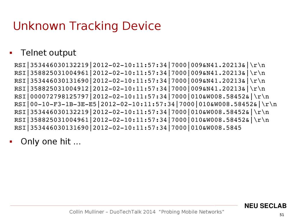 """51 Collin Mulliner – DuoTechTalk 2014 """"Probing ..."""