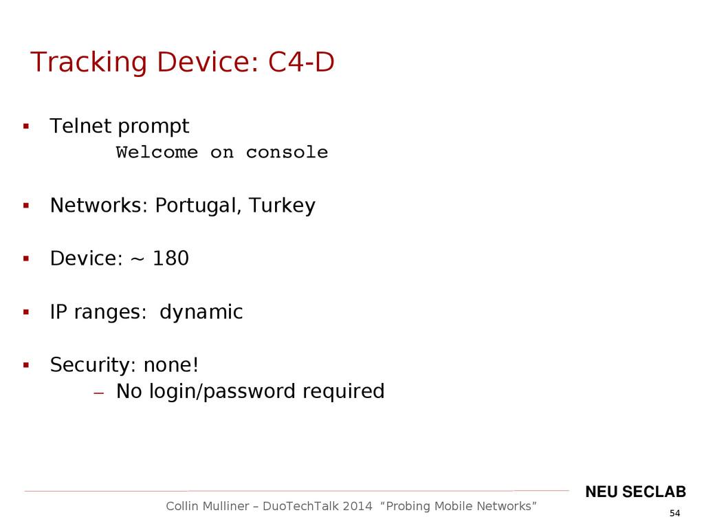 """54 Collin Mulliner – DuoTechTalk 2014 """"Probing ..."""