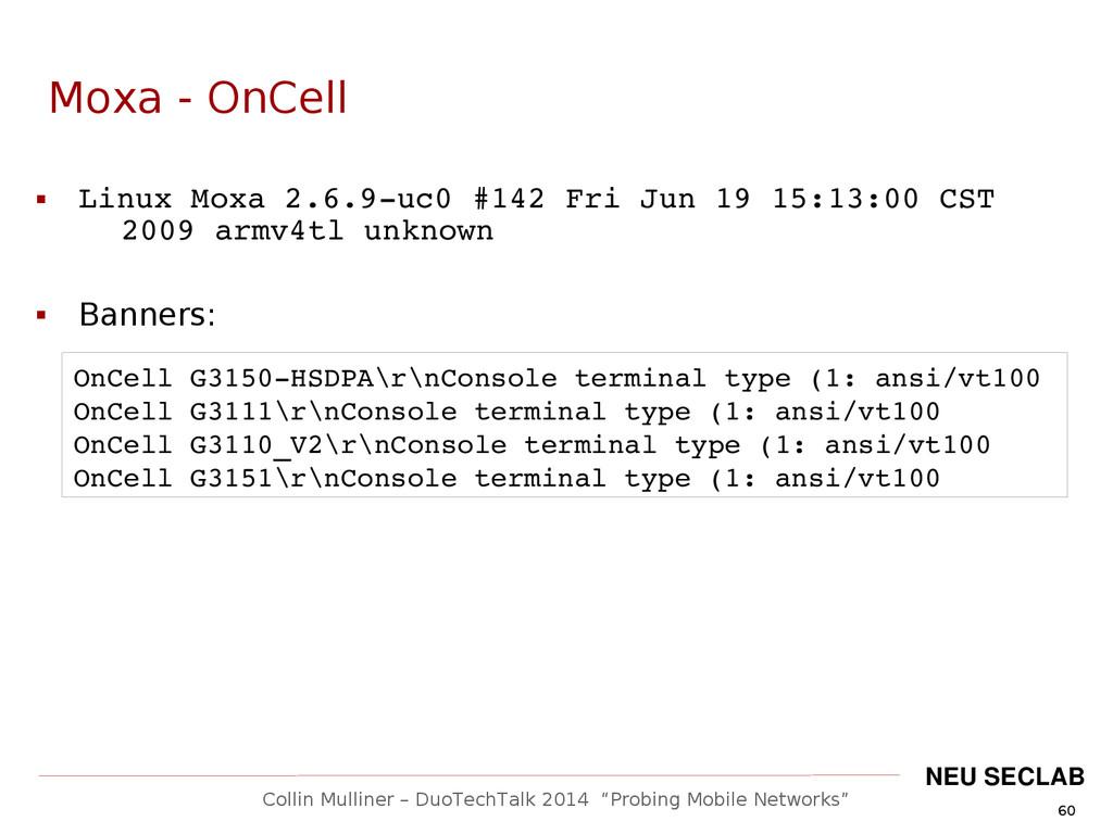 """60 Collin Mulliner – DuoTechTalk 2014 """"Probing ..."""