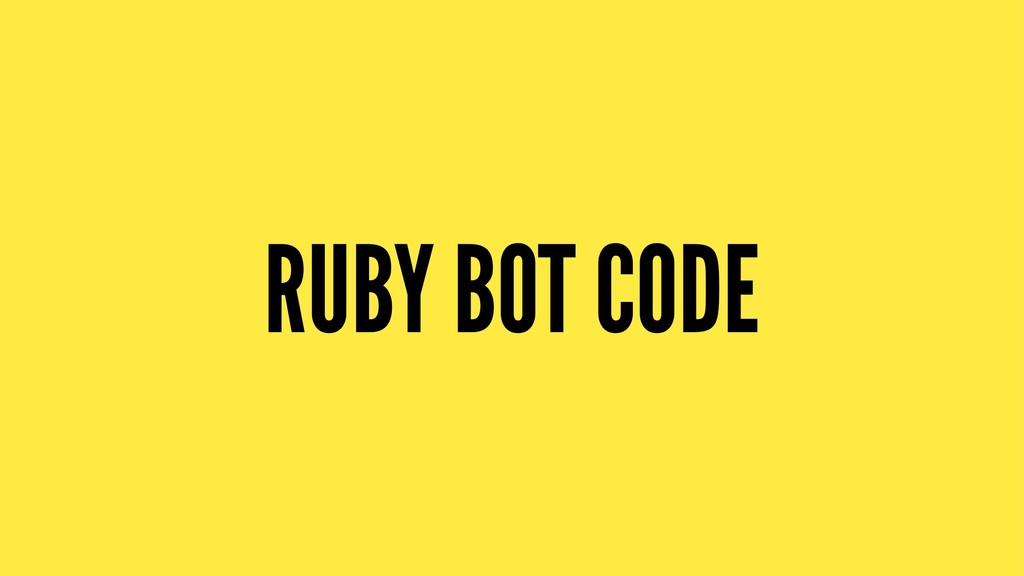 RUBY BOT CODE