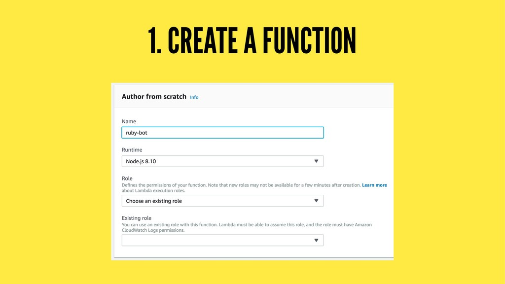 1. CREATE A FUNCTION