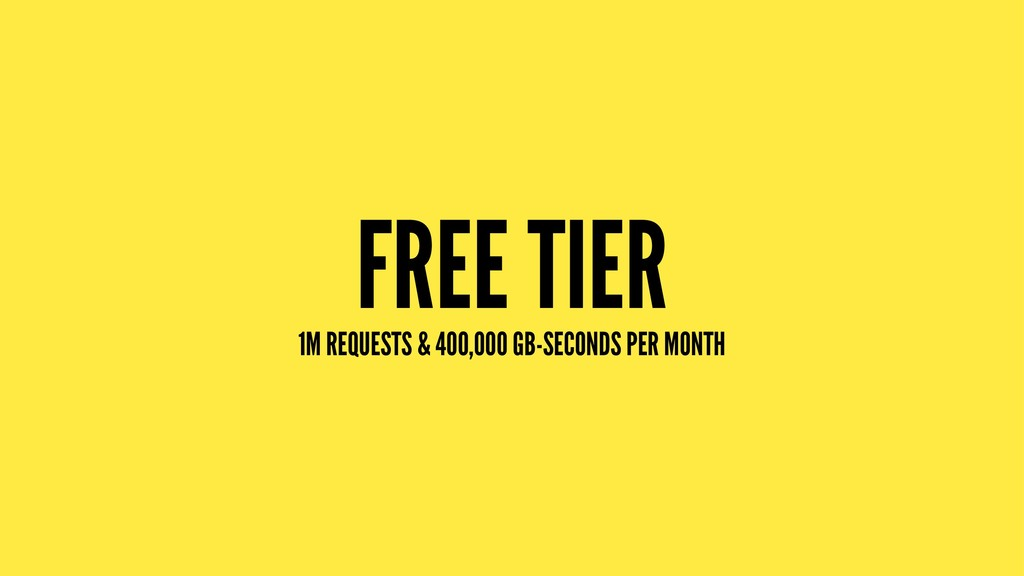FREE TIER 1M REQUESTS & 400,000 GB-SECONDS PER ...
