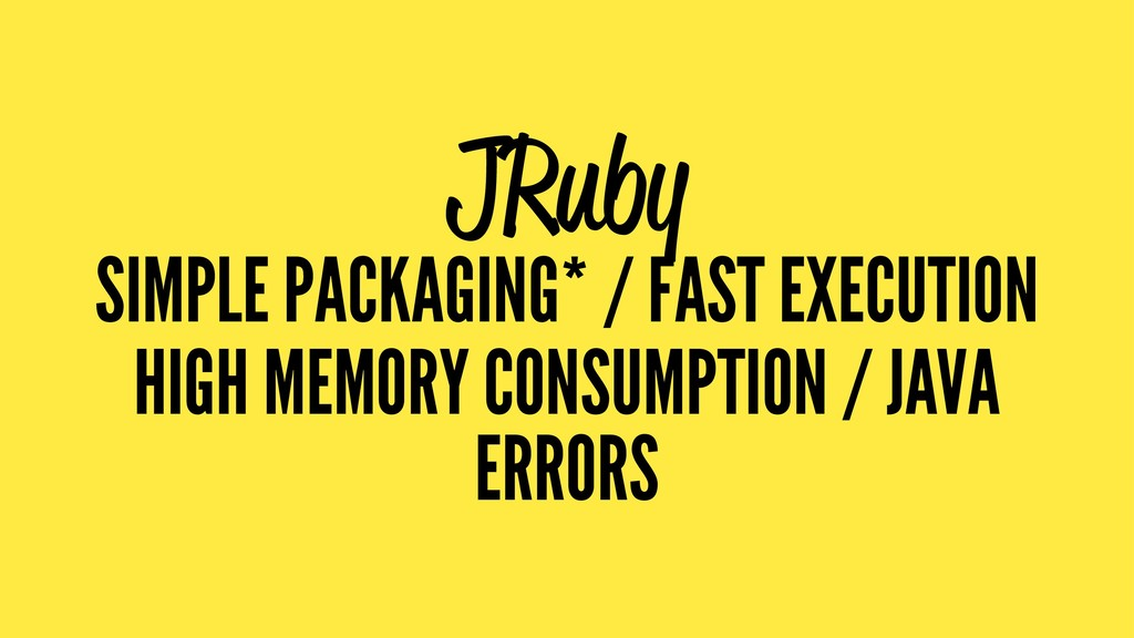 JRuby SIMPLE PACKAGING* / FAST EXECUTION HIGH M...