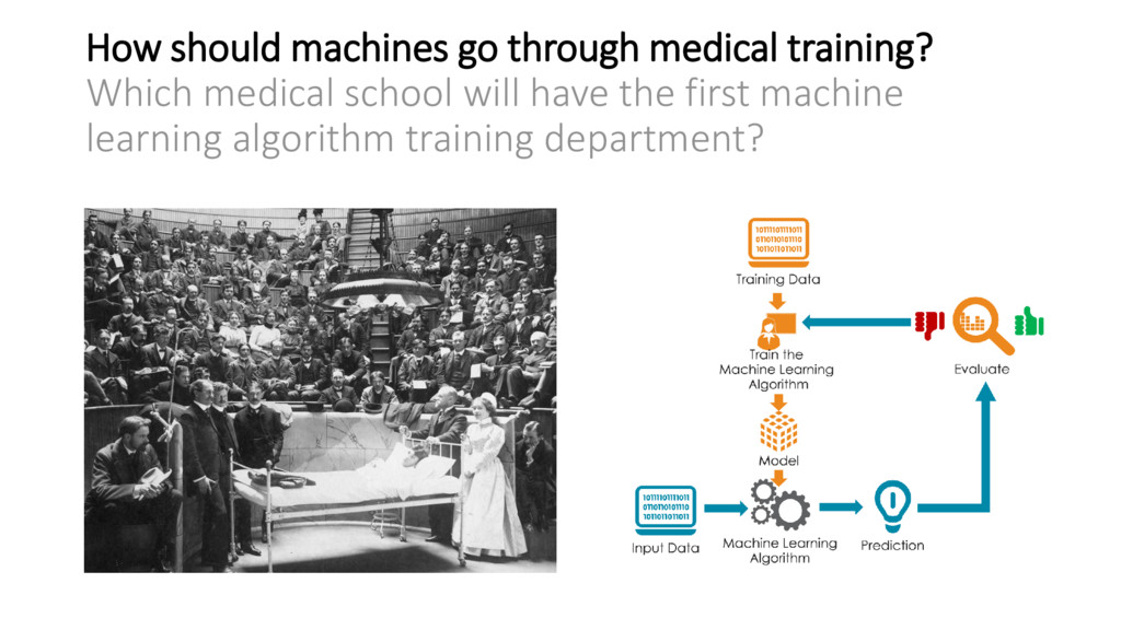 How should machines go through medical training...